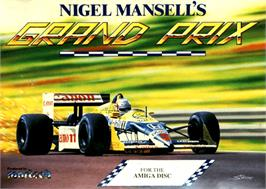 Box cover for Nigel Mansell's Grand Prix on the Commodore Amiga.