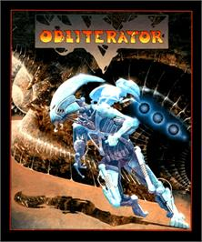Box cover for Obliterator on the Commodore Amiga.