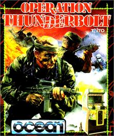 Box cover for Operation Thunderbolt on the Commodore Amiga.