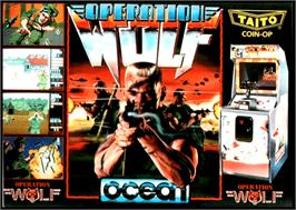 Box cover for Operation Wolf on the Commodore Amiga.