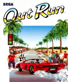 Box cover for Out Run on the Commodore Amiga.