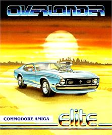 Box cover for Overlander on the Commodore Amiga.