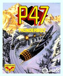 Box cover for P-47 Thunderbolt: The Freedom Fighter on the Commodore Amiga.