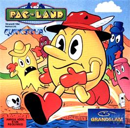 Box cover for Pac-Land on the Commodore Amiga.