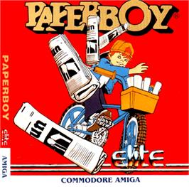 Box cover for Paperboy on the Commodore Amiga.
