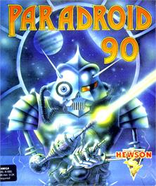Box cover for Paradroid 90 on the Commodore Amiga.