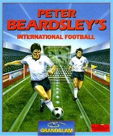 Box cover for Peter Beardsley's International Football on the Commodore Amiga.