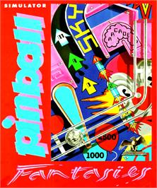 Box cover for Pinball Fantasies on the Commodore Amiga.