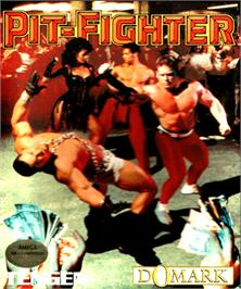 Box cover for Pit Fighter on the Commodore Amiga.