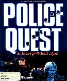 Box cover for Police Quest: In Pursuit of the Death Angel on the Commodore Amiga.