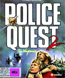 Box cover for Police Quest 2: The Vengeance on the Commodore Amiga.