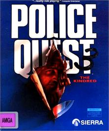 Box cover for Police Quest 3: The Kindred on the Commodore Amiga.