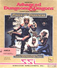 Box cover for Pools of Darkness on the Commodore Amiga.