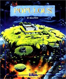 Box cover for Populous on the Commodore Amiga.