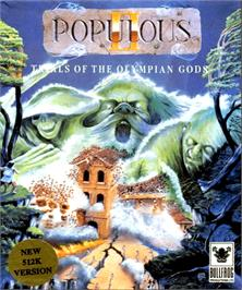 Box cover for Populous II: Trials of the Olympian Gods on the Commodore Amiga.