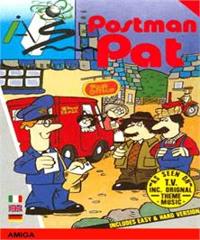 Box cover for Postman Pat on the Commodore Amiga.