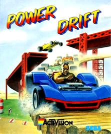 Box cover for Power Drift on the Commodore Amiga.