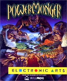 Box cover for Powermonger on the Commodore Amiga.