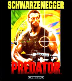 Box cover for Predator on the Commodore Amiga.