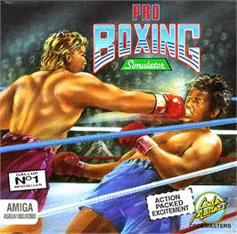 Box cover for Pro Boxing Simulator on the Commodore Amiga.