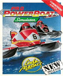 Box cover for Pro Powerboat Simulator on the Commodore Amiga.