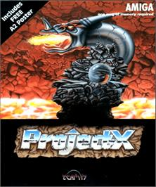 Box cover for Project-X on the Commodore Amiga.