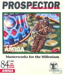 Box cover for Prospector in the Mazes of Xor on the Commodore Amiga.