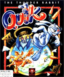 Box cover for Quik the Thunder Rabbit on the Commodore Amiga.