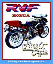 Box cover for RVF Honda on the Commodore Amiga.