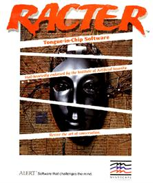 Box cover for Racter on the Commodore Amiga.