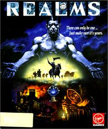 Box cover for Realms on the Commodore Amiga.