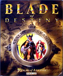 Box cover for Realms of Arkania: Blade of Destiny on the Commodore Amiga.