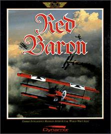 Box cover for Red Baron on the Commodore Amiga.