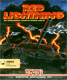 Box cover for Red Lightning on the Commodore Amiga.