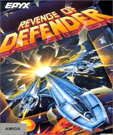 Box cover for Revenge of Defender on the Commodore Amiga.