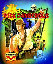 Box cover for Rick Dangerous on the Commodore Amiga.