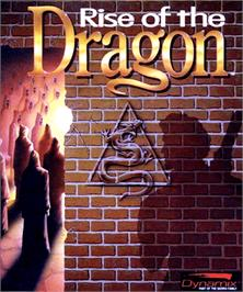 Box cover for Rise of the Dragon on the Commodore Amiga.