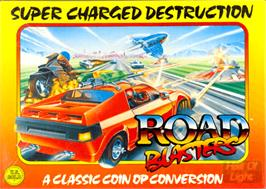 Box cover for Road Blasters on the Commodore Amiga.