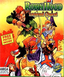 Box cover for Robin Hood: Legend Quest on the Commodore Amiga.