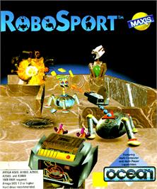 Box cover for RoboSport on the Commodore Amiga.