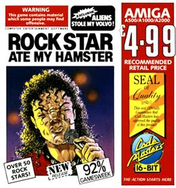 Box cover for Rock Star Ate my Hamster on the Commodore Amiga.