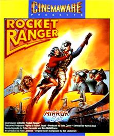 Box cover for Rocket Ranger on the Commodore Amiga.