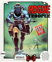 Box cover for Rogue Trooper on the Commodore Amiga.