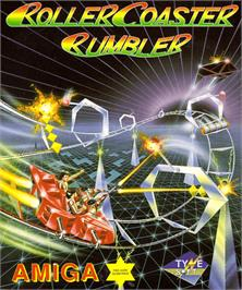 Box cover for Roller Coaster Rumbler on the Commodore Amiga.