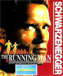 Box cover for Running Man on the Commodore Amiga.
