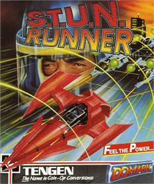 Box cover for S.T.U.N. Runner on the Commodore Amiga.