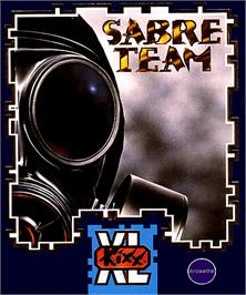 Box cover for Sabre Team on the Commodore Amiga.