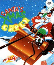 Box cover for Santa's Xmas Caper on the Commodore Amiga.