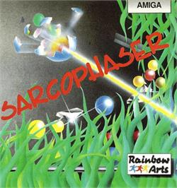 Box cover for Sarcophaser on the Commodore Amiga.