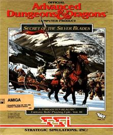 Box cover for Secret of the Silver Blades on the Commodore Amiga.